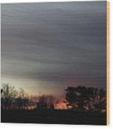 Morning Silhouette Wood Print
