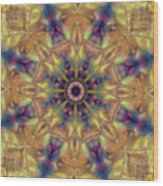 10300 Morning Sky Kaleidoscope 01a Wood Print