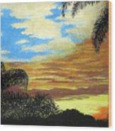Morning Sky Wood Print by Frederic Kohli