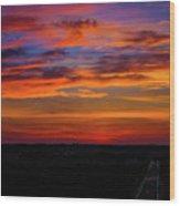 Morning Sky Over Washington D C Wood Print