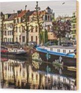 Morning Stillness, Ghent Wood Print