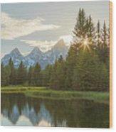 Morning Sun At Schwabachers Landing Wood Print
