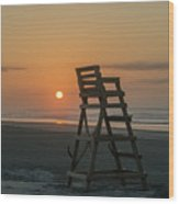 Morning Sun - Wildwood Crest Wood Print