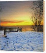 Morning Sunrise Wood Print