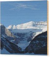 Morning Sunshine Kisses Snowy Peaks Wood Print