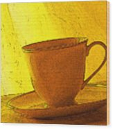 Morning Teacup Wood Print