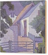 Morning, The South Downs By Robert Polhill Bevan Wood Print