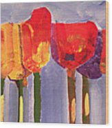 Morning Tulips Wood Print