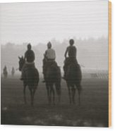 Morning Workout Saratoga Ny Wood Print