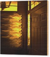 Morning's Golden Hour Wood Print