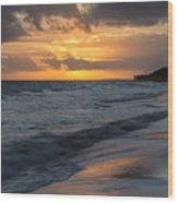 Mornings On The Beach  Wood Print
