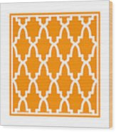 Moroccan Arch With Border In Tangerine Wood Print