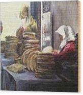 Moroccan Breadmaker Wood Print
