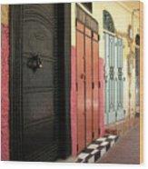 Moroccan Doors Wood Print