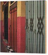 Moroccan Doors Ll Wood Print