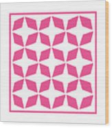 Moroccan Inlay With Border In French Pink Wood Print