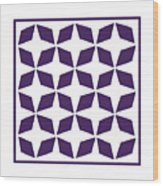 Moroccan Inlay With Border In Purple Wood Print