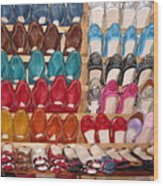 Moroccan Shoes 3 Wood Print