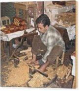 Moroccan Woodturner Wood Print