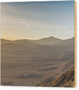 Morongo Valley From On High Wood Print