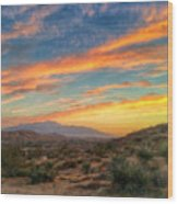 Morongo Valley Sunset Wood Print