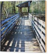 Morris Bridge Boardwalk Wood Print
