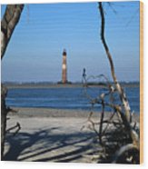 Morris Island Lighthouse Charleston Sc Wood Print