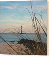 Morris Island Lighthouse In Charleston Sc Wood Print