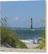 Morris Island Lighthouse Walkway Wood Print
