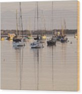 Morro Bay Boats In Early Morning Light   Wood Print