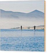Morro Bay Paddle Boarders Wood Print