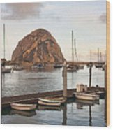 Morro Bay Small Pier Wood Print