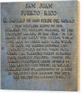 Morro Fortress - Puerto Rico Wood Print