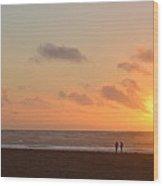Morro Sunset Wood Print