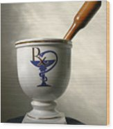 Mortar And Pestle Wood Print by Kristin Elmquist