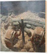Mortar Crew In Action Wood Print