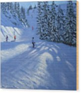Morzine Ski Run Wood Print
