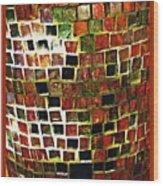 Mosaic 16 Wood Print