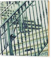 Mosaic And Iron Staircase La Quinta California Art District In Mint Tones Photograph By Colleen Wood Print