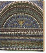 Mosaic And Shell Fountain Getty Villa Malibu California Wood Print