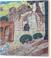Mosaic Art At Petra Wood Print