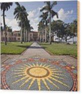 Mosaic At The Ca D Wood Print