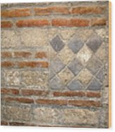 Mosaic From Pompeii Wood Print