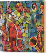 Mosaic Jazz Wood Print