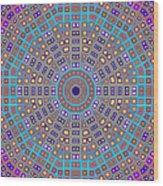 Mosaic Kaleidoscope  Wood Print