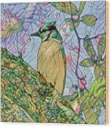 Mosaic Of Blue Jay Wood Print