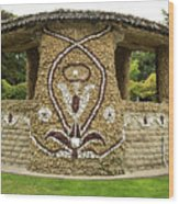 Mosaic Stone Bandstand In Anacortes Wood Print