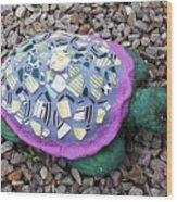 Mosaic Turtle Wood Print