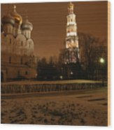 Moscow Cathedral Of Our Lady Of Smolensk Wood Print