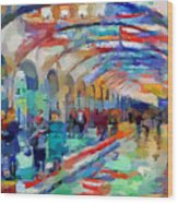 Moscow Metro Station Wood Print